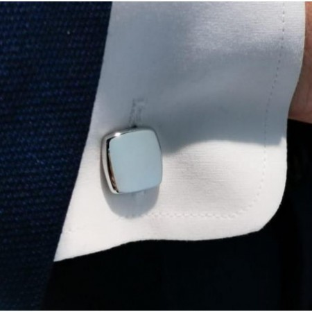 Silver Cufflinks Square GRABABLE