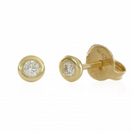 Diamond stud earrings CHATON