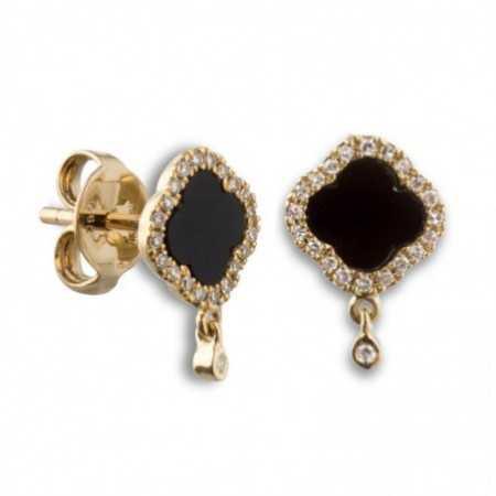 Gold earrings Onix OPAQUE STONES