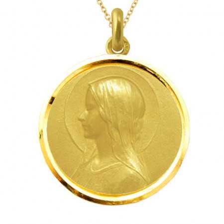 Medalla Virgen Velo Oro 18kt