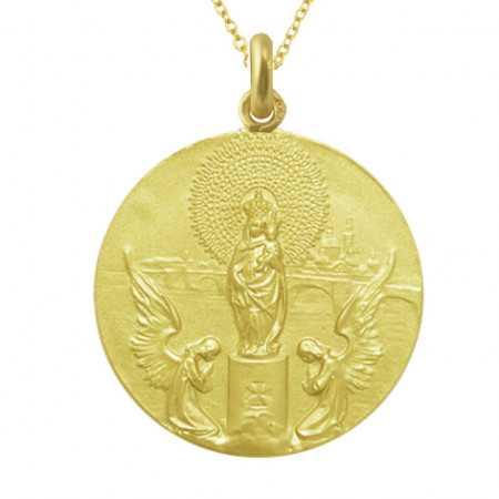 Medalla Virgen del Pilar Oro 18kt