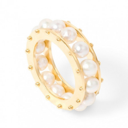 ART DECO pearl ring