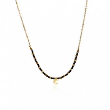Gold necklace DARK MOON