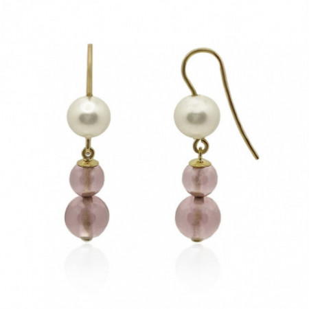 Gold earrings NATURAL STONES