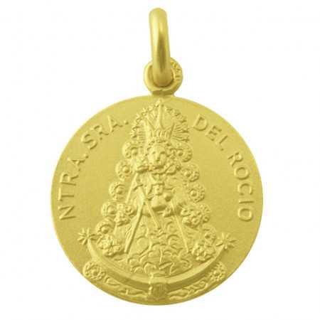 Medalla Virgen del Rocío Oro 18kt