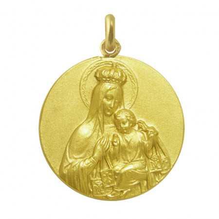 Medalla Virgen del Carmen Corona Oro 18kt