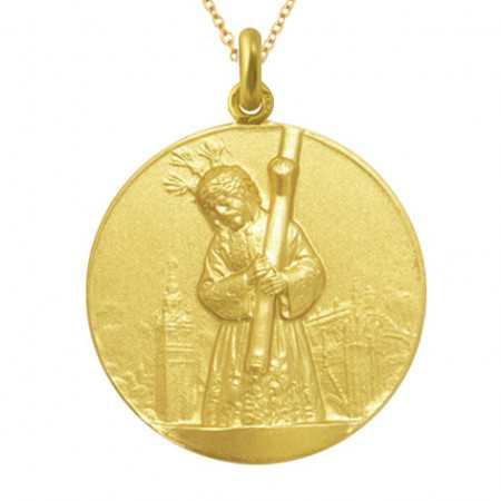 Medalla Jesús del Gran Poder Oro 18kt