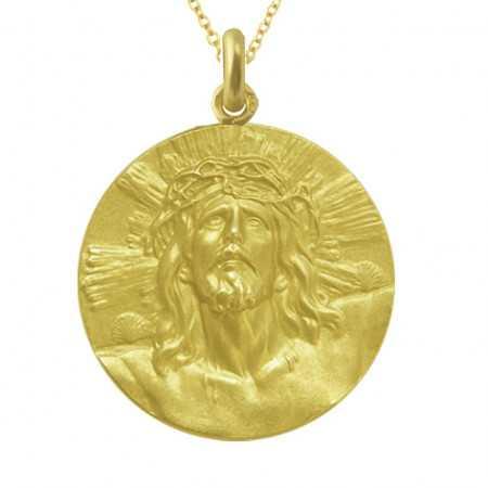 Medalla Cristo de Limpias Oro 18kt