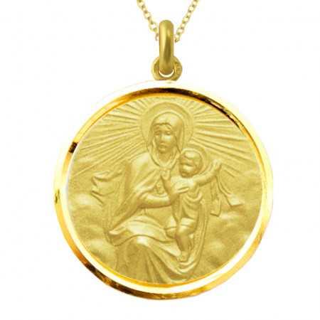 Medalla Virgen del Carmen Oro 18kt Bisel