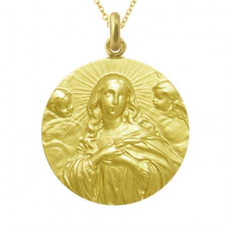 Medalla Inmaculada Concepción 18kt