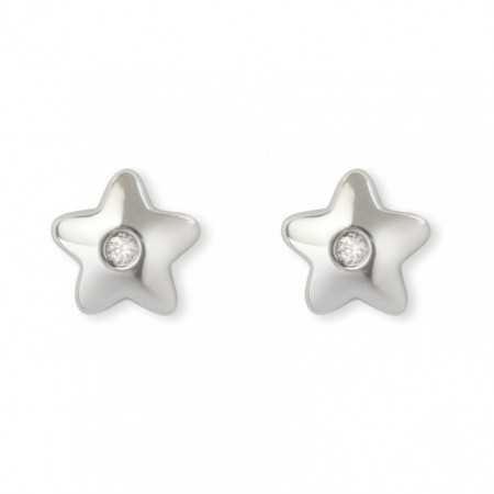 Star diamond stud earrings