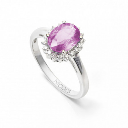 Ring PINK SAPPHIRE REAL BLOOD