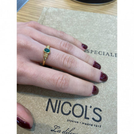 Emerald Gold ring NEW VINTAGE 533