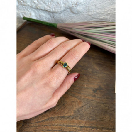 NEW VINTAGE cabochon emerald ring 533