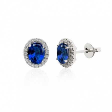 Sapphire earrings LIA Orla 1.96