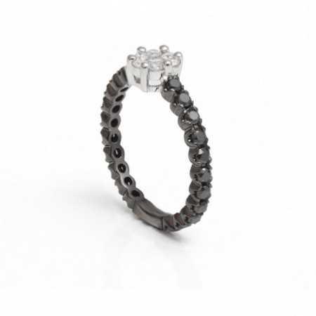 Black Diamonds Ring White BLACK POWER