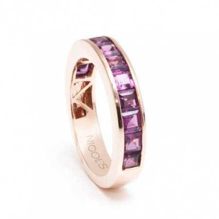Rhodolite Garnet Ring FLÚOR
