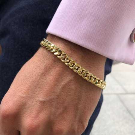 18kt Gold Bracelet 7.5mm CUBAN LINK