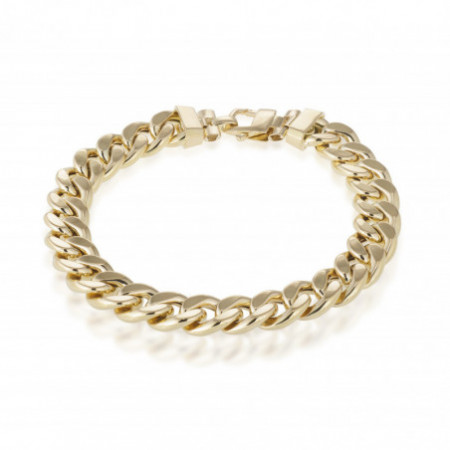 18kt Gold Bracelet 10mm CUBAN LINK