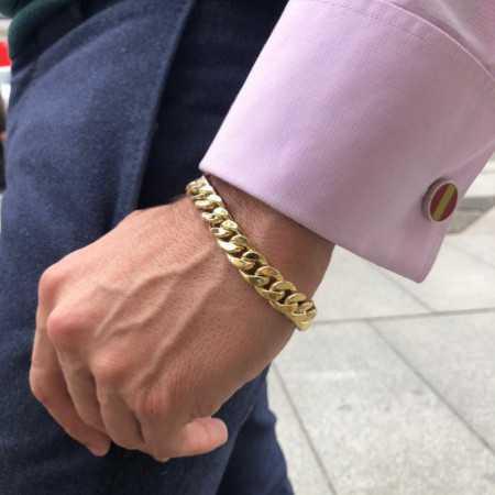 18kt Gold Bracelet 12mm CUBAN LINK