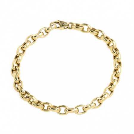 18kt Gold Bracelet OVAL 9x6 ESLABON