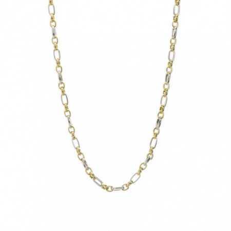 18kt Gold Chain 50cm ESLABON ALTERNO