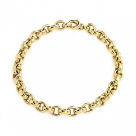 18kt Gold Bracelet OVAL 8x6 ESLABON