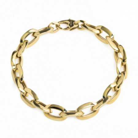 18kt Gold Bracelet 15x9 ESLABON BISEL
