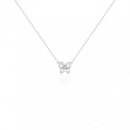 Diamond Butterfly Necklace NICOLS