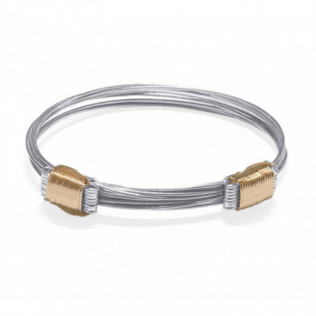 Silver and Rose Gold Bracelet Knots 8 Wires