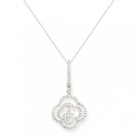 Diamond flower pendant ARABESQ