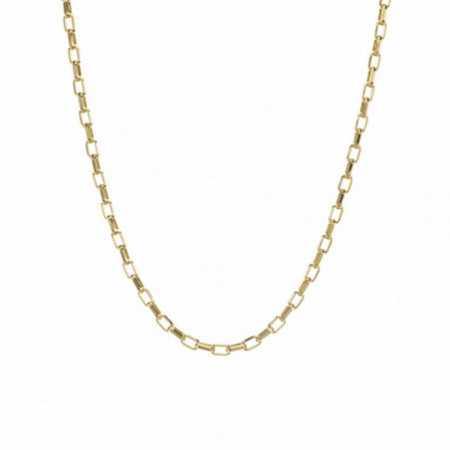 18kt Gold Chain 50cm Rectangular Forsada