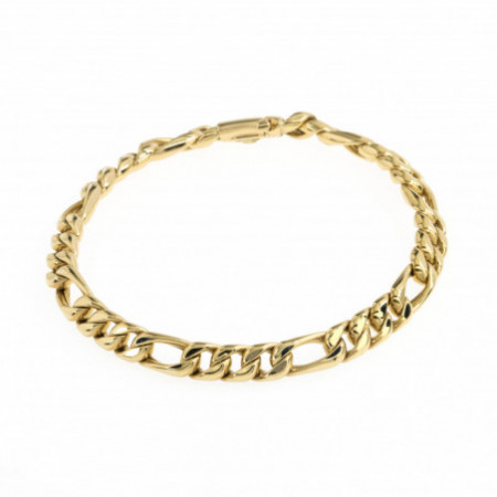Gold bracelet 18 Kt Barbada Plana 6mm