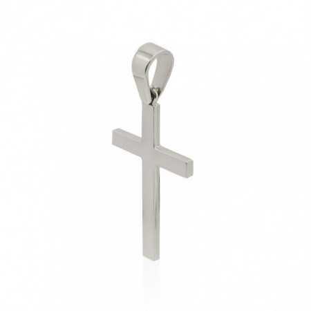 Cruz Oro Blanco CATHOLIC SIGN