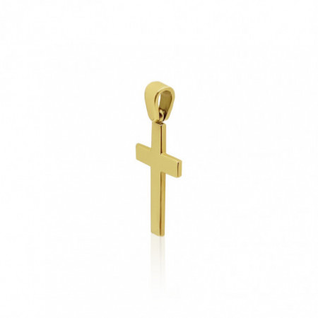 Yellow Gold Cross CATHOLIC SIGN