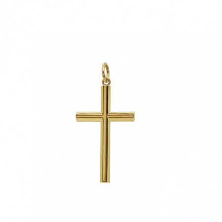 Solid Gold Cross TUBE Lisa M