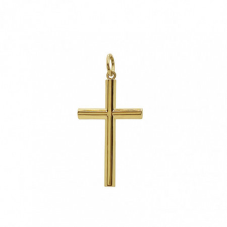 Solid Gold Cross TUBE Lisa L