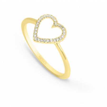 Gold ring LOVE HEART