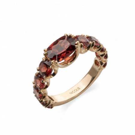 RAINBOW Garnet Rose Gold Ring