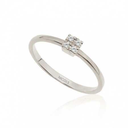 Gold Diamond Ring Rosette DETAIL