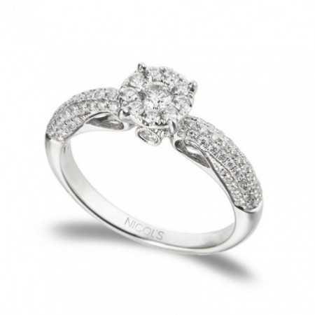 Gold Diamond Ring ROSETON SQUARE