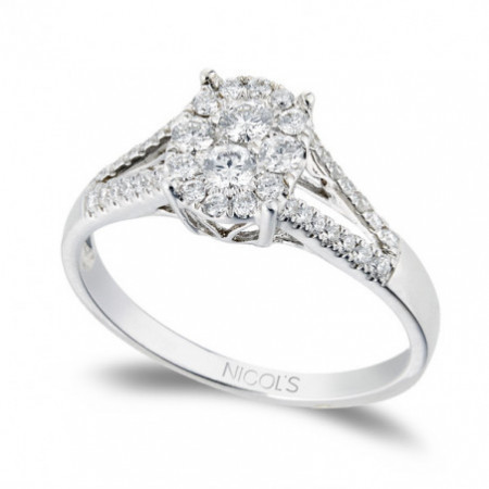 Engagement ring SOLITAIRE WEDDING BAND OVAL