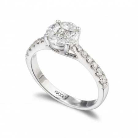 Rosette Diamond Ring DIAMOND CLASSIC