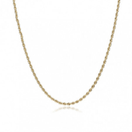 SOLID 18kt gold chain 2.5mm 40cm CORDON