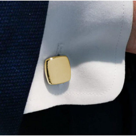 Gold cufflinks Square GRABABLE