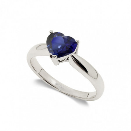 Solitaire Engagement Ring 0.80ct Sapphire BLUE BLOOD