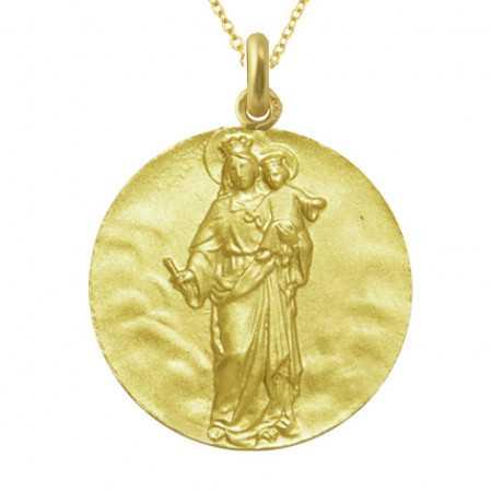 Medalla Virgen Maria Auxiliadora 18Kt.