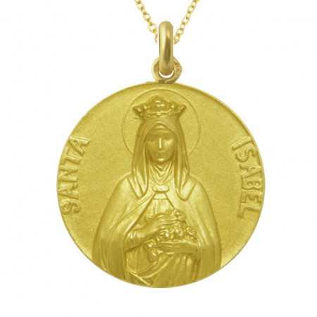 Medalla Santa Isabel 18Kt.