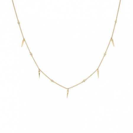 Gold necklace CELEBRITY skewers 108