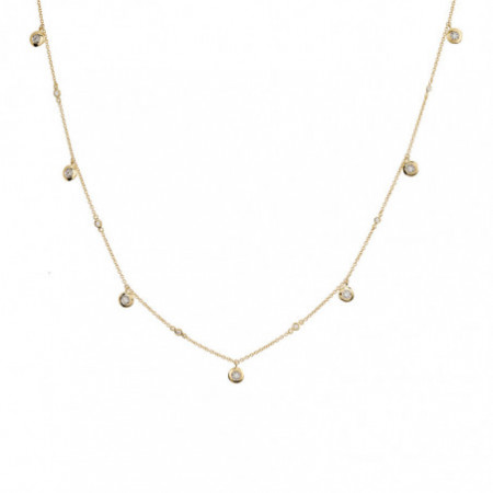 Gold necklace chatons CELEBRITY 108